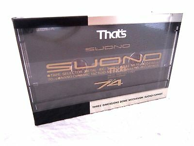 CASSETTE TAPE BLANK SEALED - 1x (one)  THAT'S SUONO 74 [1990-92] -- METAL TOP --