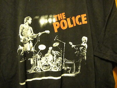 THE POLICE WORLD TOUR 2007 / 08 ~ XL ~ 2 Sided T Shirt Venues Back STING