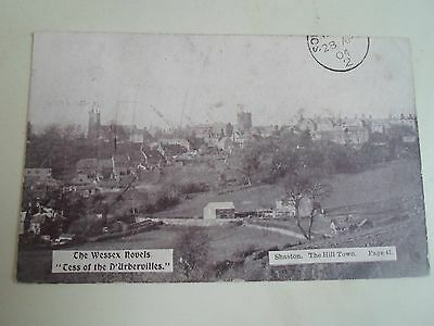 Rare Old Postcard Shaston The Hill Town (Shaftesbury)  The Wessex Novels 1904
