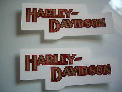 2 Harley Davidson Motorcycle Window Decal Factory Dealership Sticker Badge Small