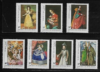 Guinea Bissau 553-59 Paintings Mint NH