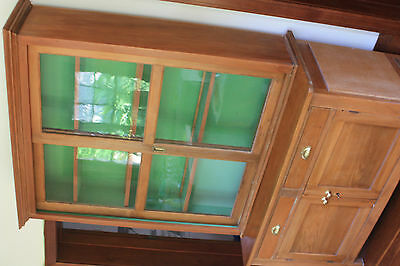 HUON PINE Dresser/Hutch well restored . Reduced to sell - $175.00