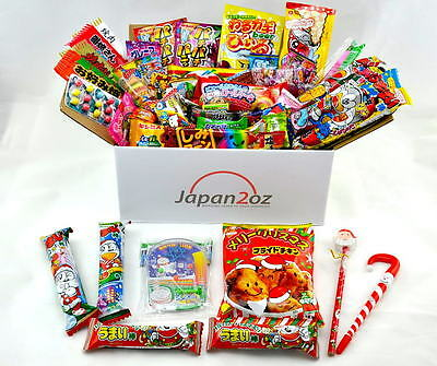50+ PIECE JAPANESE CHRISTMAS CANDY SET Gummy Ramen Jelly Chips Chocolate Sweets