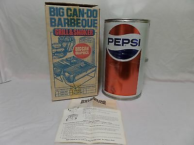 (Lot F25) Vintage NOS Big Can Do Barbecue Grill Smoker Pepsi Can Boxed
