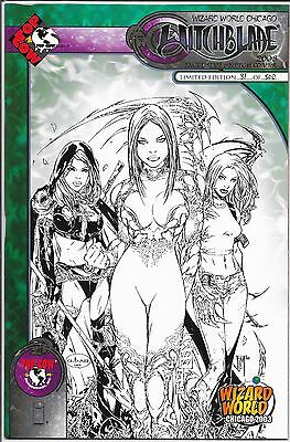 WITCHBLADE # 61 Wizard World Chicago Comiccon Exclusive Sketch Cover # 81 of 500