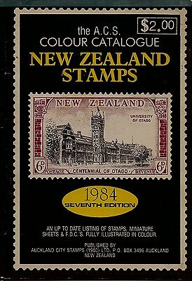 The A.c.s. Colour Catalogue New Zealand Stamps 1984 7Th Edition
