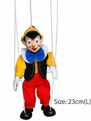 Wooden Toy Pinocchio 23cm Marionette with 5 Strings