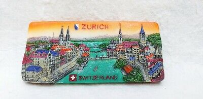 ZURICH SWITZERLAND Resin 3D Fridge Magnet Souvenir Gift Tourist Refrigerator