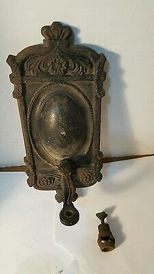 Antique Vintage Cast Iron Wall Sconce light fixture very ornate