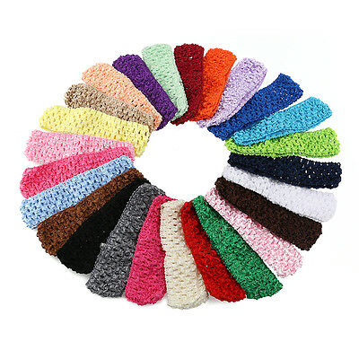 50PCS Kids Girl Baby Toddler Headband Crochet  Hair Band Accessories Headwear