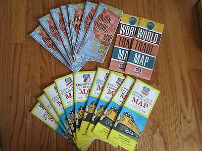 Lot of vintage UNION PACIFIC maps World Trade  United States Territorial Freight