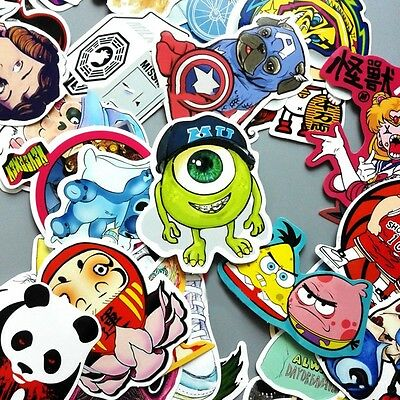 100 Skateboard Vinyl Sticker Skate Graffiti Laptop Luggage Car Decal Paster