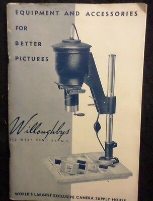 Vintage Willoughby's Camera Equipment And Accessories Catalog