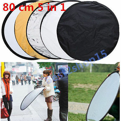 "80cm 32"" 5 in 1 Photography Studio Multi Photo Disc Collapsible Light Reflector@"