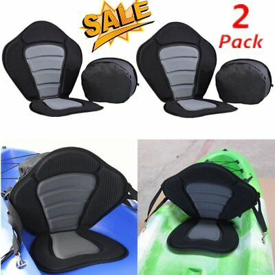 2 x Deluxe Adjustable Safe Padded Kayak Seat with Detachable Back Pack US STOCK#