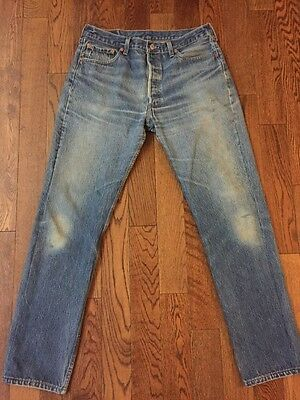 Vintage Levi's 501 Made In USA Denim Jeans - 34 X 32