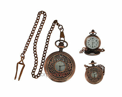 Handmade Vintage Simple Design Pocket Watch With Long Chain - HEPL150