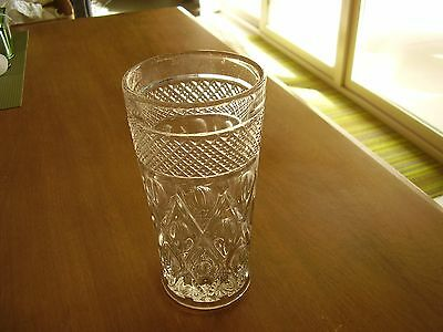 "Imperial Cape Cod Clear Glass 6 3/8"" Flat Tumbler FREE SHIPPING"