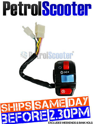 Right Hand Handlebar Light Starter Button Switch Fits Lots Chinese Scooters
