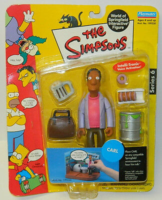 The Simpsons Carl Action Figure with Voice Playmates 2001 NEW SEALED