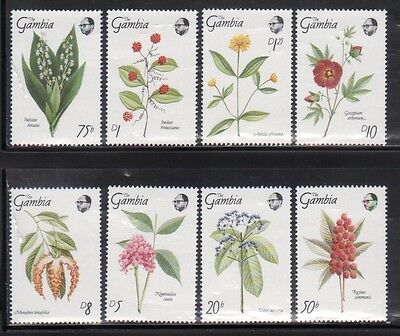 Gambia 877-84 Flowers Mint NH