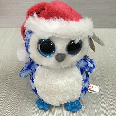 TY BEANIES BOOS LOVELY GIFT  Icicle Santa Owl Stuffed toy