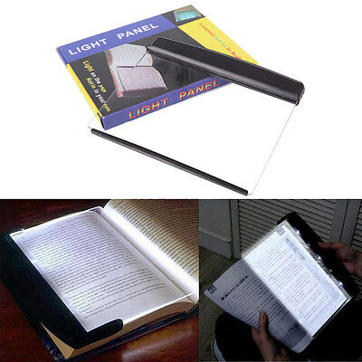 Ultralight Reader Night Vision Read Panel Page LED Light Book Reading Lamp