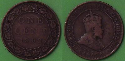 1902 Canada Large Penny Graded as Very Fine