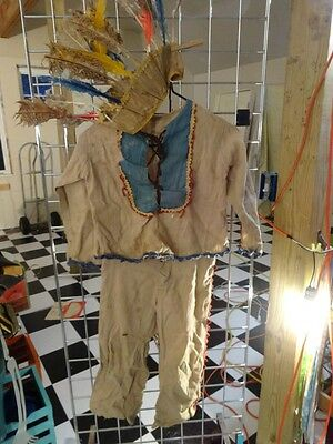 Vintage 40s Young Child's WESTERN American INDIAN Play Clothes HALLOWEEN Costume