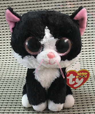 TY BEANIES BOOS Pepper The Black Cat Glisten Eyes Stuffed toy WithOUT tush tag