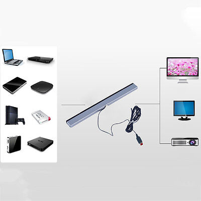 New Wired Infrared Ray Sensor Bar for Nintendo Wii Remote Controller YA