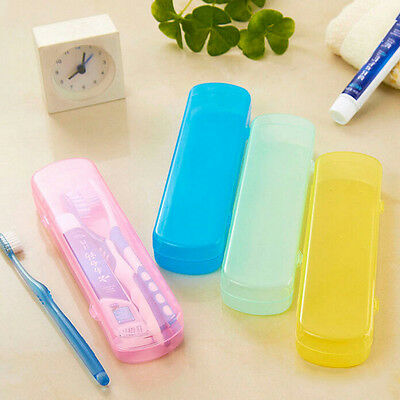 New Travel Portable Toothbrush Toothpaste Storage Box Cover Protect Case UK