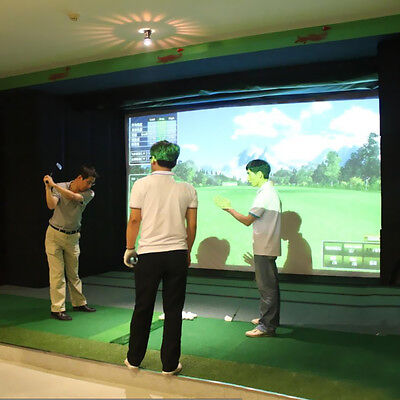 Indoor Yes Golf Ball Simulator Impact Display Projection Screen 10''x10'' Y2R3