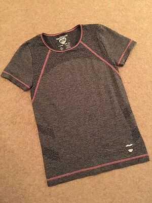 Girls Sports Top Age 11 To 12 Years Grey/Pink Primark NEW. Ideal Christmas Gift
