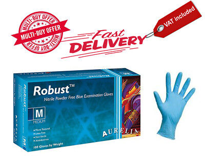 Disposable, Aurelia Robust Powder Free Nitrile Gloves, Latex Free
