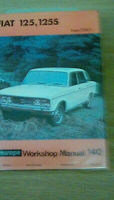 Fiat 125125 s workshop manual from 1967 on