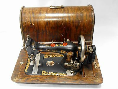 ►Antigua maquina de coser ANLABY made in USA año 1912 FUNCIONA sewing machine►