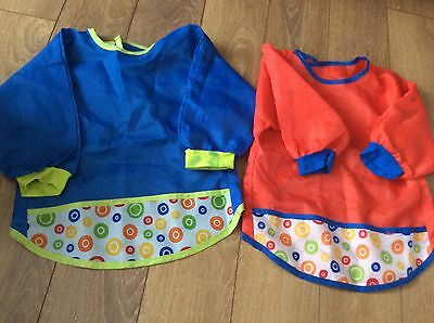2 Childrens Painting apron 1-2 year old