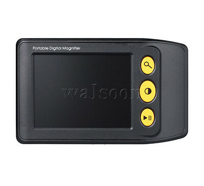 """3.5"""" LCD Screen Portable Low Vision Digital Magnifier Reading Aid 2~25X TV Out"""