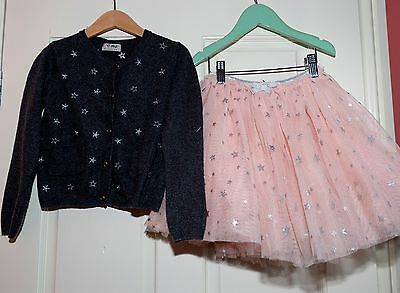 Next net party skirt and cardigan outfit Age 4-5 years