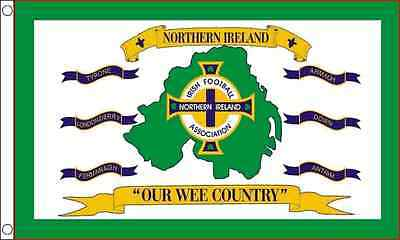 5ft x 3ft (150 x 90cm) Northern Ireland Our Wee Country Polyester Banner Flag