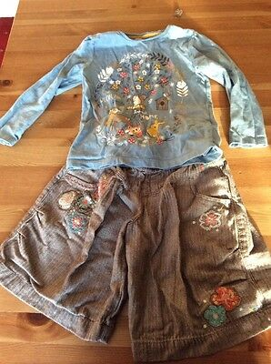 Girls Woodland T-shirt And Culottes 2-3 Years