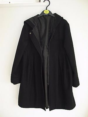 Girls black hooded winter coat Age 9-10 from M&S