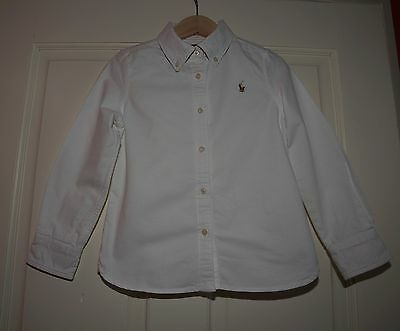 Designer Ralph Lauren white cotton shirt Age 5 years