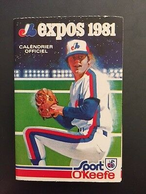 Montreal Expos 1981 MLB NL Baseball Pocket Schedule