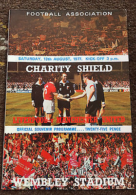 1977 Charity Shield : Liverpool v Manchester United 13th August 1977