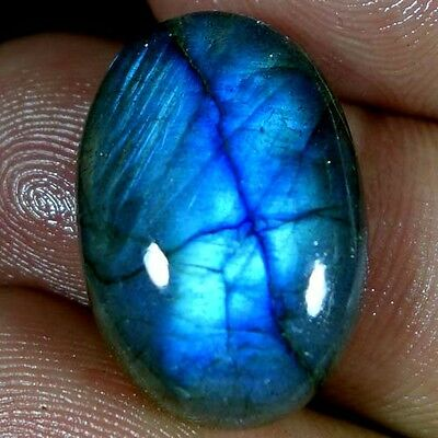 25.15Cts. 100% NATURAL CHATOYANT LABRADORITE OVAL CABOCHON AFRICAN GEMSTONES