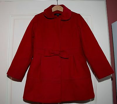 M&S Autograph girls red winter coat Age 5-6 years