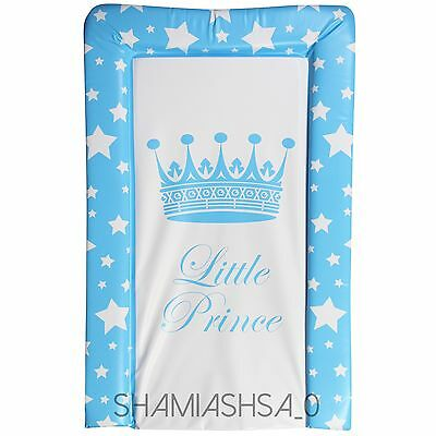 Brand New Little Prince Blue White Padded Baby Boys Changing Mat From Birth.