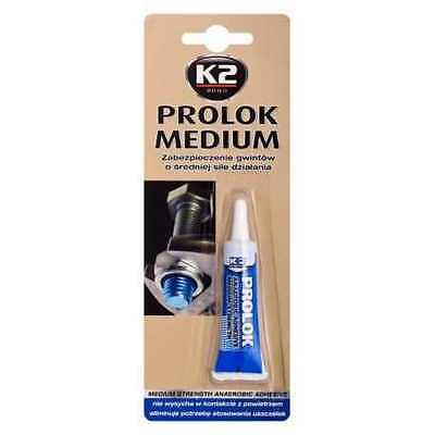 K2 PROLOK  Thread Locker MEDIUM STRENGTH Temperature 6ml Lock Screw Nut BLUE